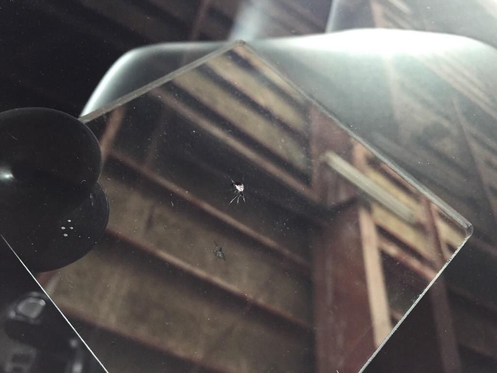 北上市《出張》オデッセイフロントガラス修理(飛び石、ウインドリペア)