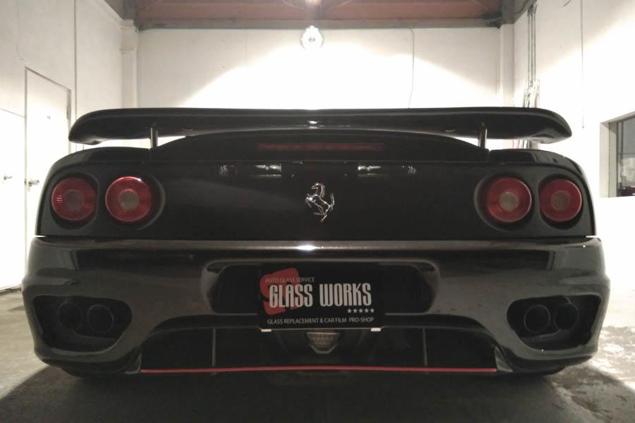 フェラーリ 360 スポイラーエッヂを赤く!
