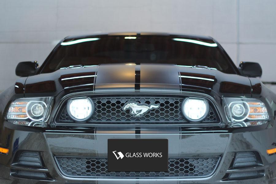 Mustang A Go Go !!! ドアミラーを赤へ!